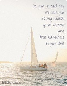 Birthday Card With Sailing Boat With Images Birthday Verses Birthday Verses For Cards Happy Birthday Wishes Quotes