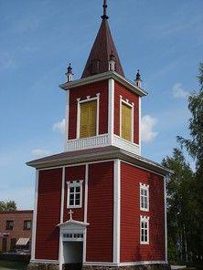 Kortesjärven kirkon kellotapuli.