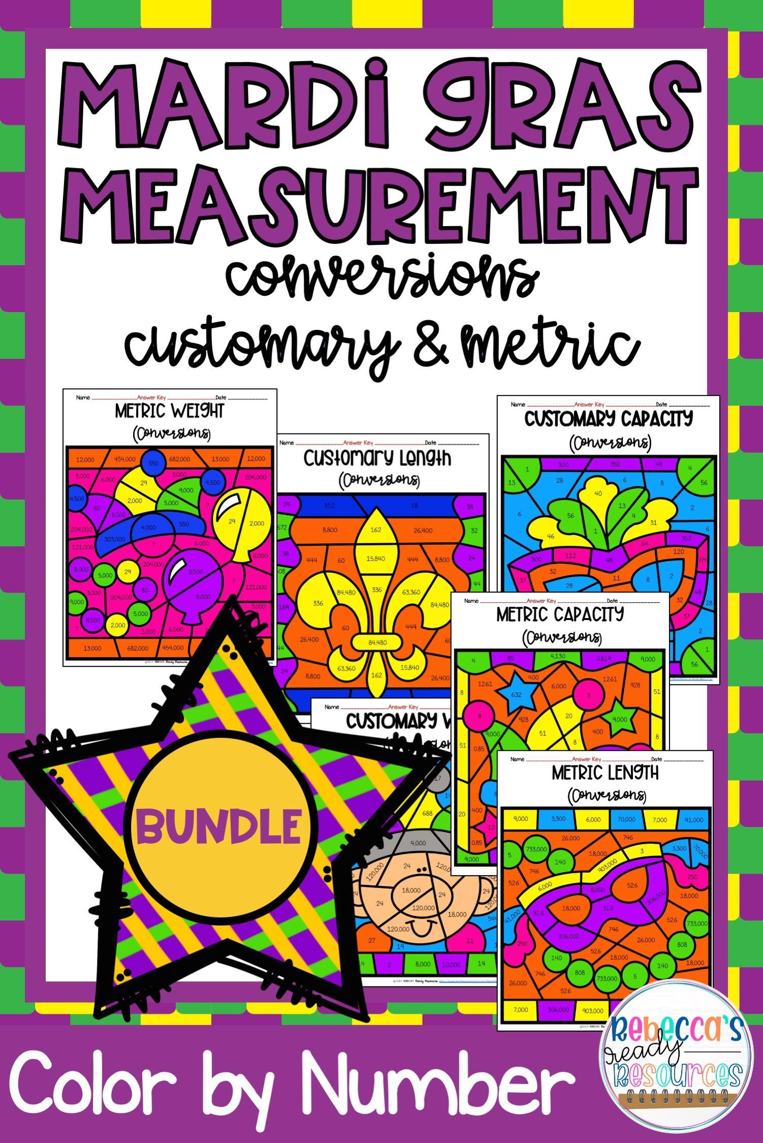 Mardi Gras Measurement Conversions Customary Amp Metric