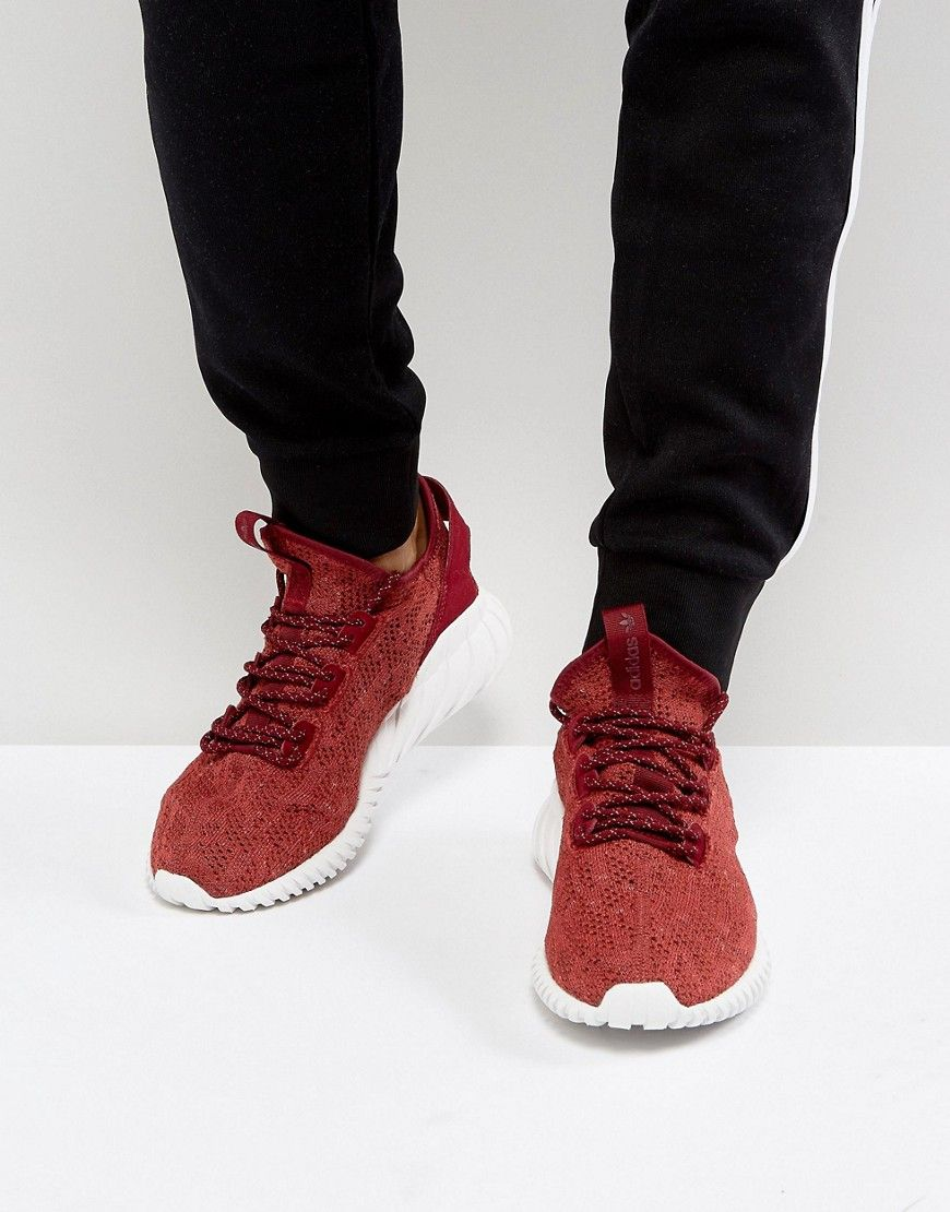 Tubular Doom Sock Primeknit Sneakers In Red By3560 Red Adidas