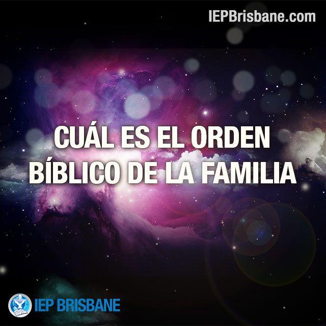 La colocación de la familia de acuerdo al modelo de Dios