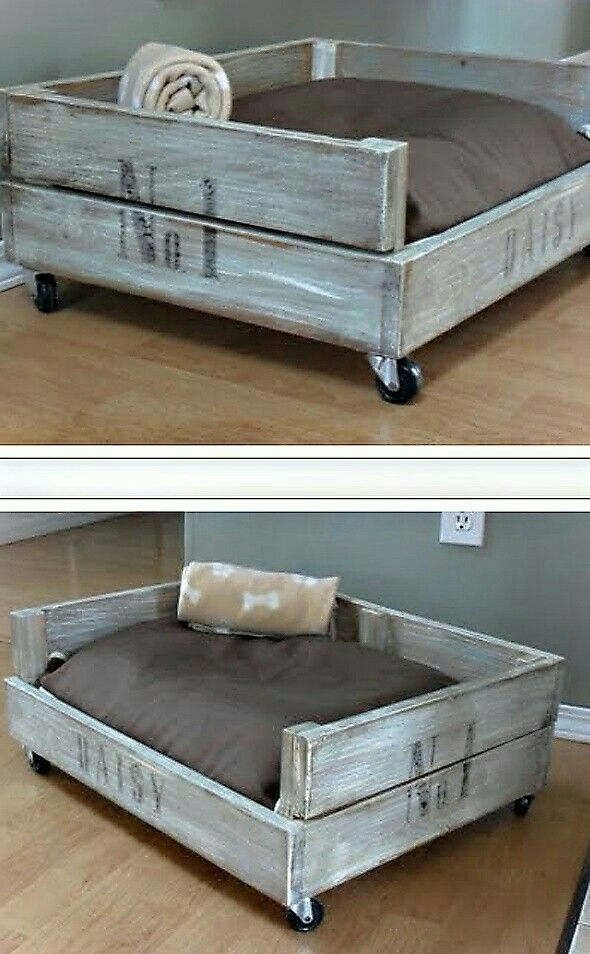 Dog wooden bed