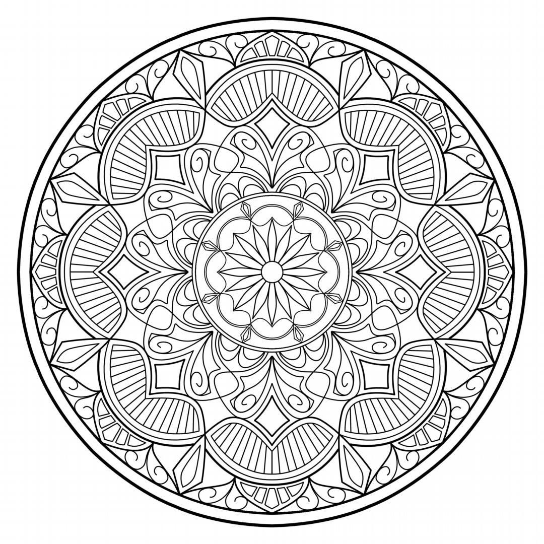 - Mandala AD_25: Geometric Coloring Page PDF Download Etsy
