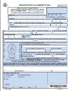 Passport Renewal Application Form Ds  Italy  Trip