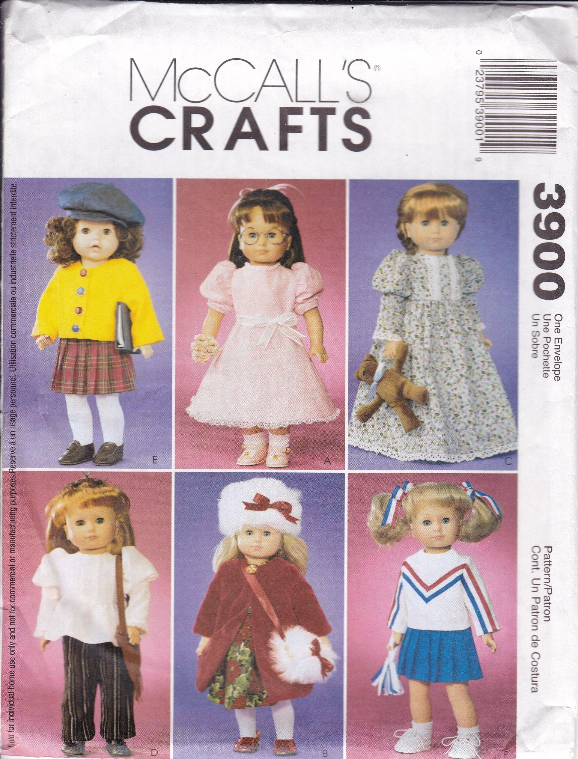 18 Inch Doll Clothes Pattern Fits 18 Dolls Sewing