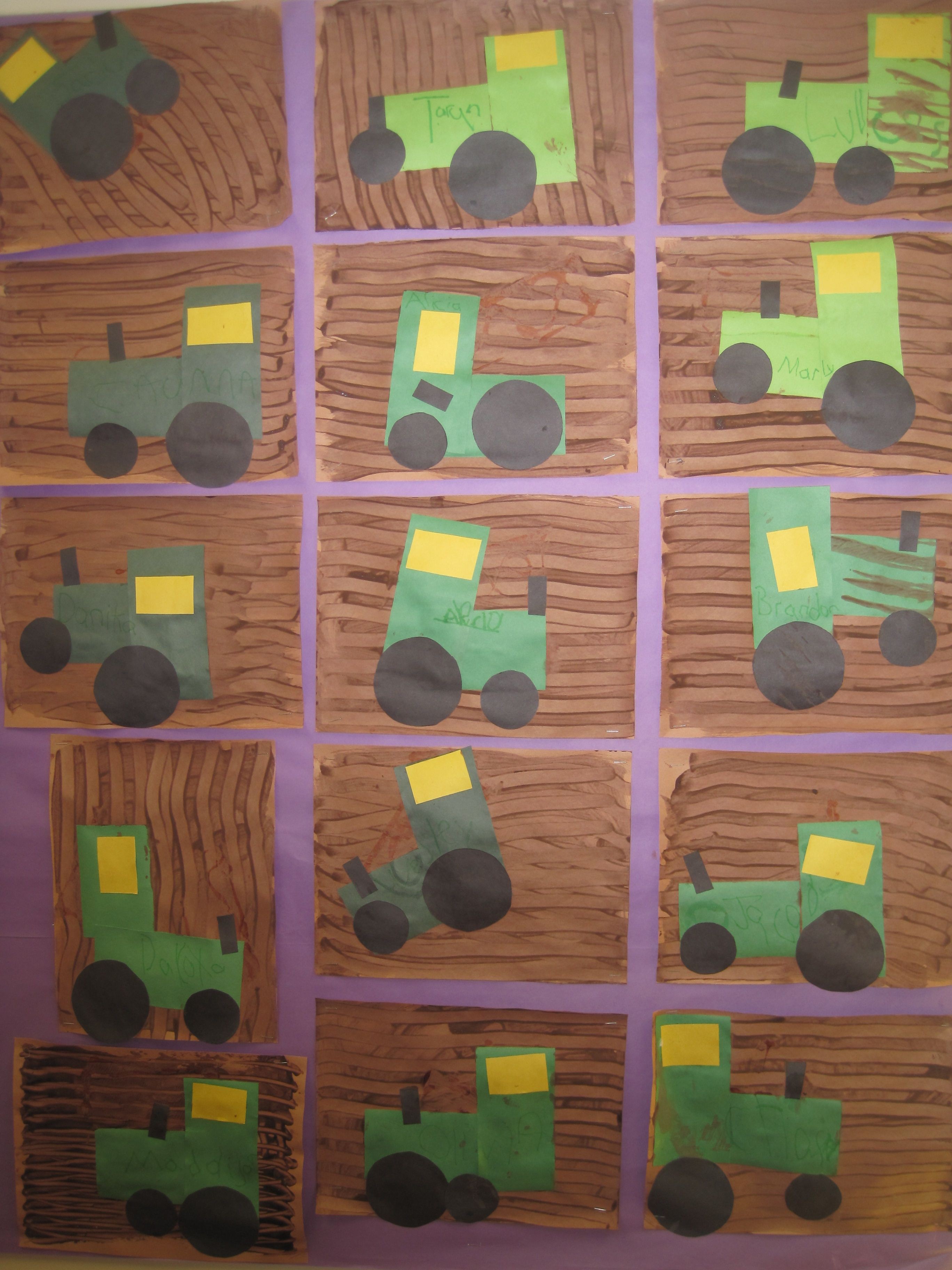 Tractors preschool fun pinterest tractor farming for Farm animal crafts for preschool