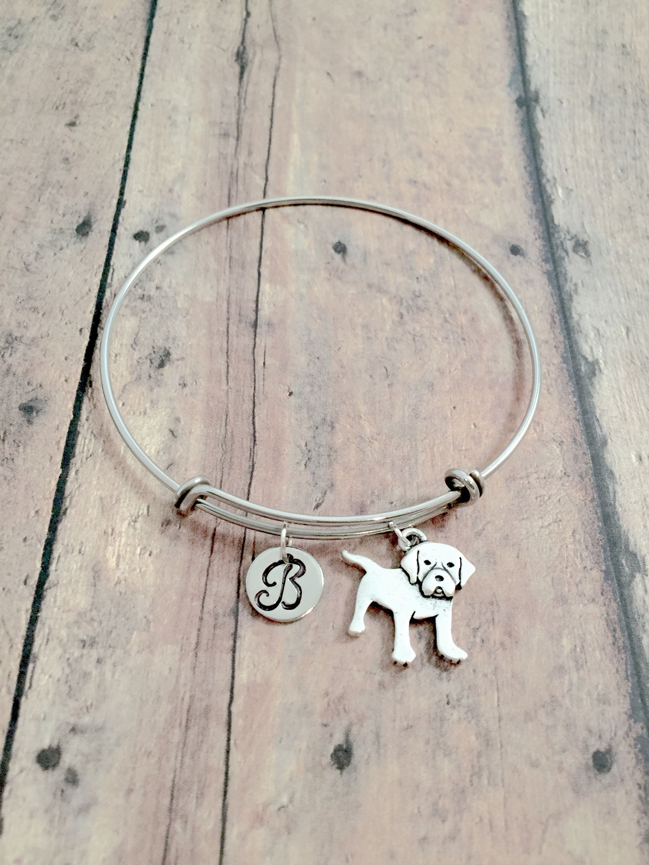 Beagle Initial Bangle Beagle Jewelry Dog Breed Jewelry Beagle