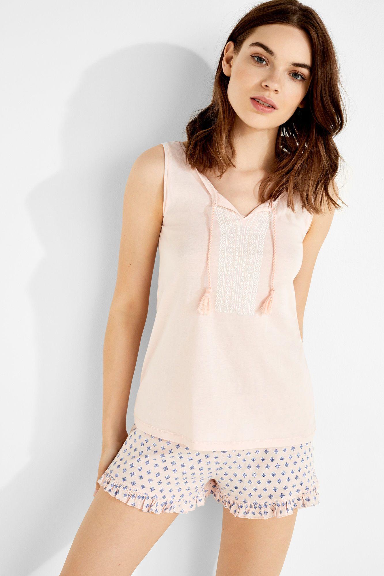 d6e59974f9 Womensecret Pijama corto de algodón estampado rosa