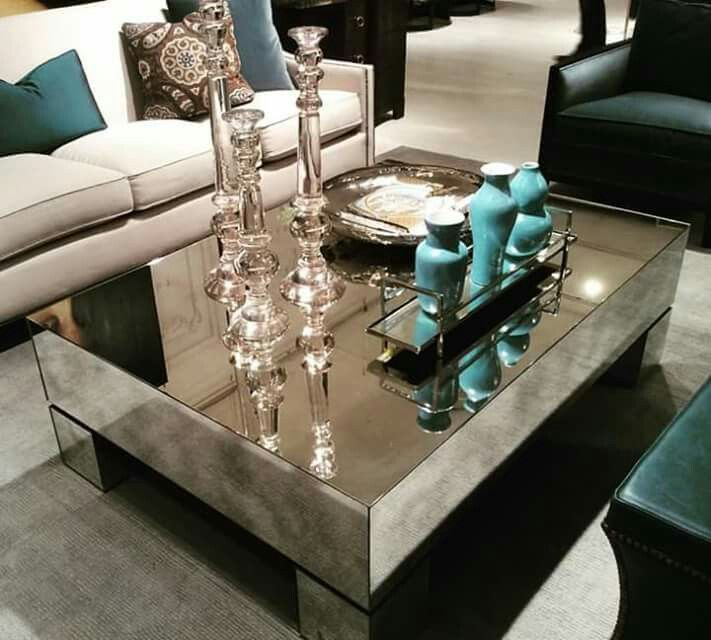 chic glass table for living room area