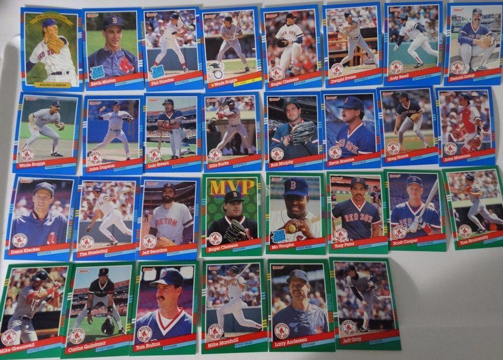 1991 donruss series 1 2 boston red sox team set of 30
