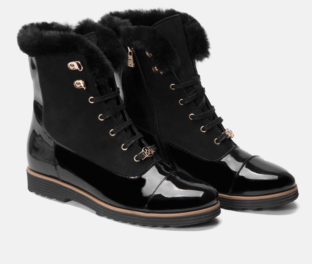 Lakierowane Trzewiki Botki Z Futerkiem Czarne Skorzane Kazar 42436 25 00 Z Kolekcji 2019 2020 Sklep Internetowy Kazar Sorel Winter Boot Boots Shoes