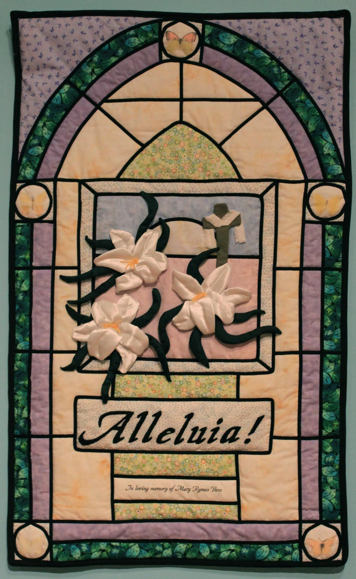 Wall Hanging 1 Alleluia By Sue Isaac I Designed This Quilt To