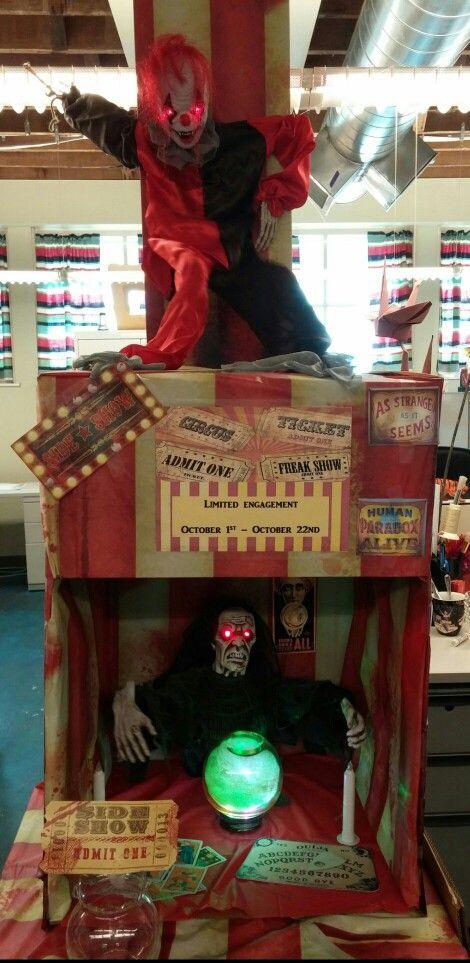 Creepy Freakshow Carnival Halloween decor for my work area Very - creepy halloween decor