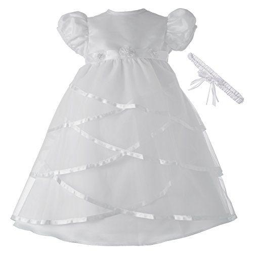 Lauren Madison Baby-Girls Newborn Full Skirt Dress Gown Outfit
