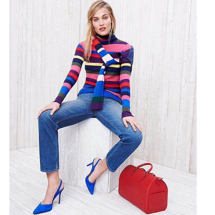 Bright Stripes: This Classic Motif Gets A Vibrant, Eye-popping Makeover. #resort16 #trend #stripes By Shopbop
