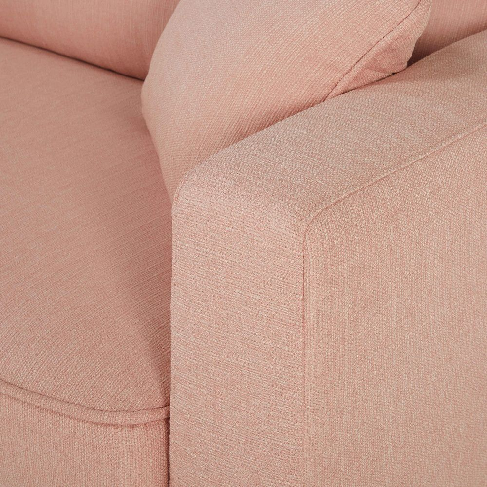 Pink Couch Detail 3 Seater Fabric Sofa Brooke Maisons Du Monde