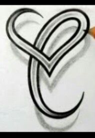 Behind The Ear Letter C Celtic Tattoo Idea Tattoo Ideas