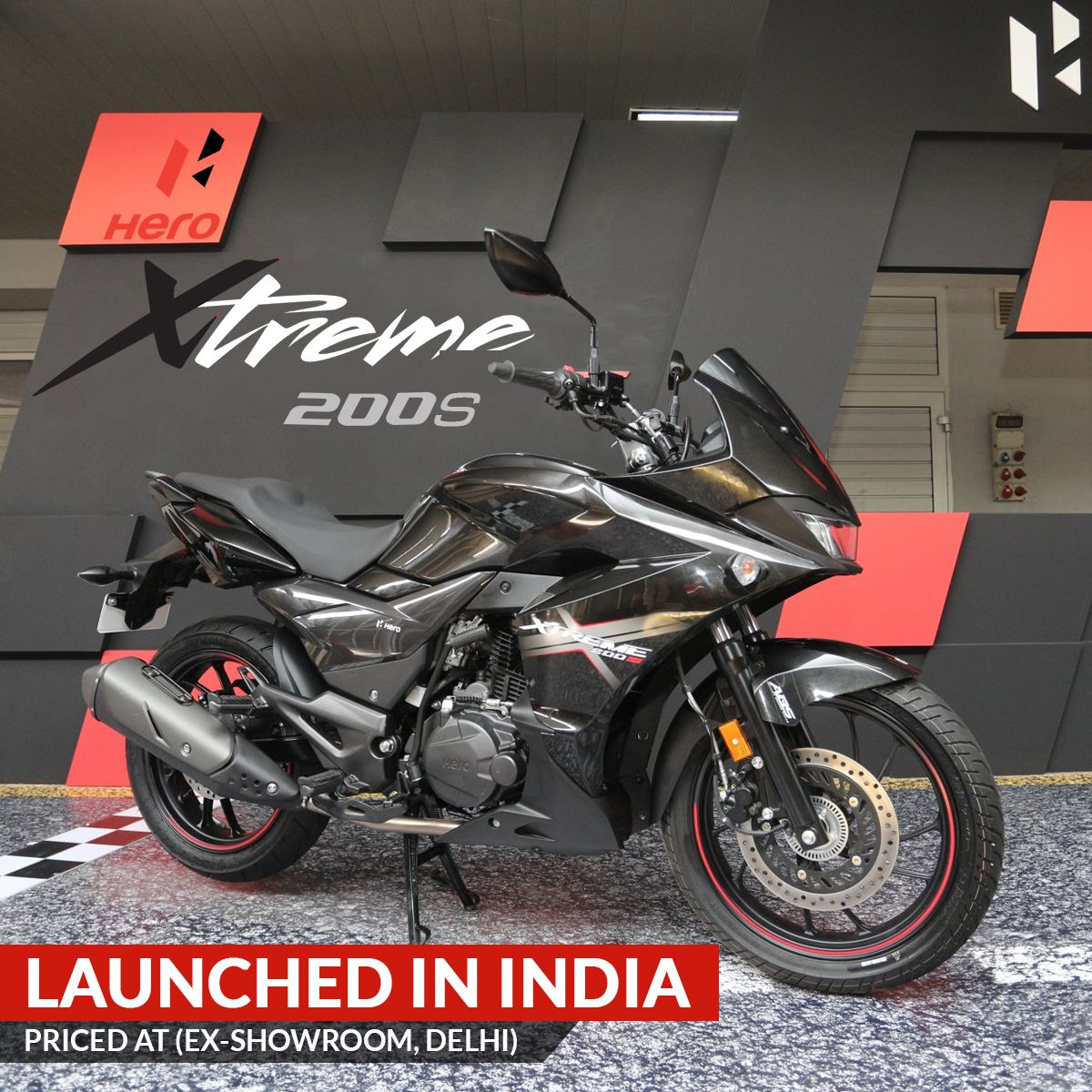 Hero Motocorp Has Launched The All New Xtreme 200s Full Faired