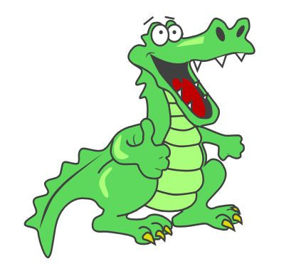 gator animation pictures | put my own spin on this alligator clip ...