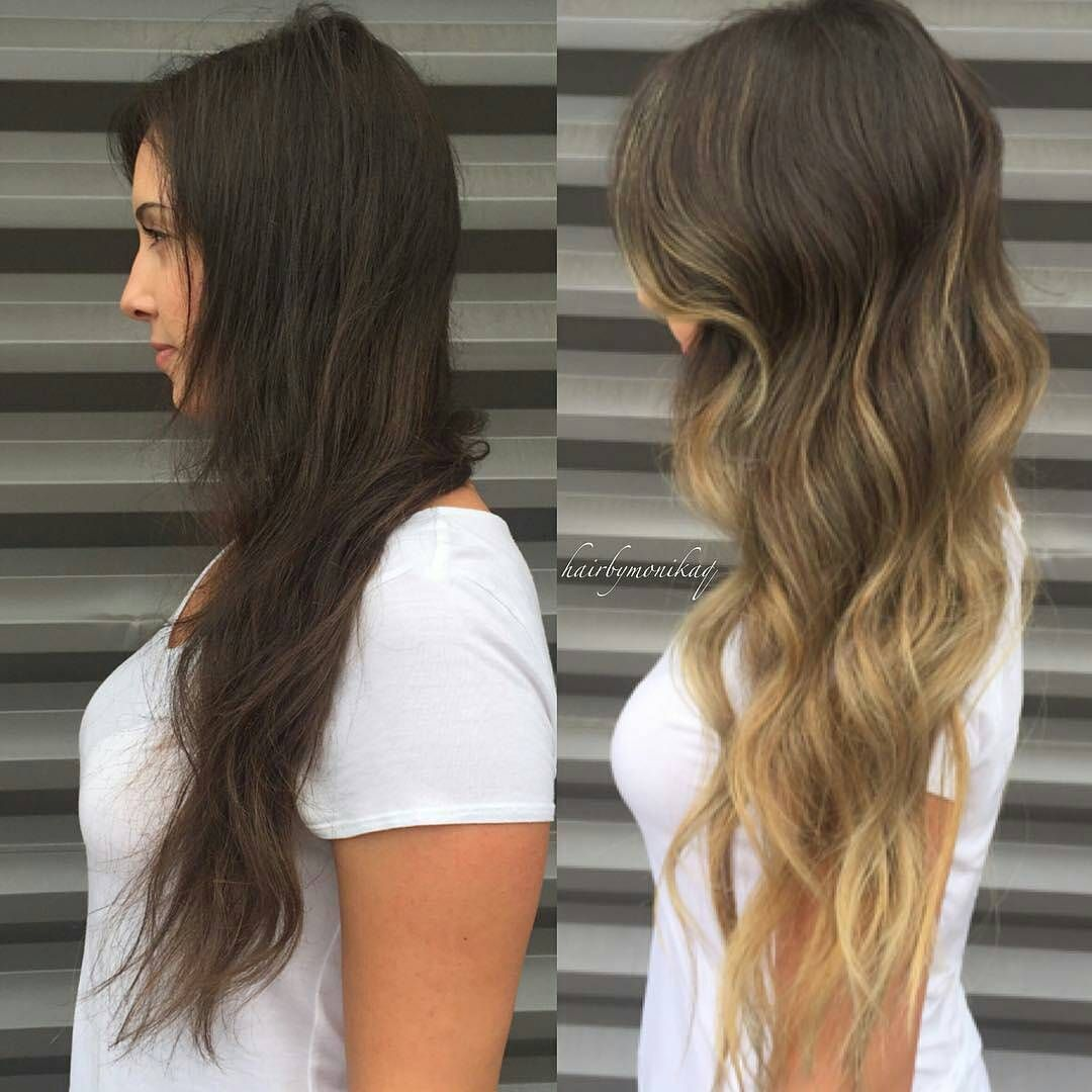Balayage brunette to blonde - Ombre hair brune ...