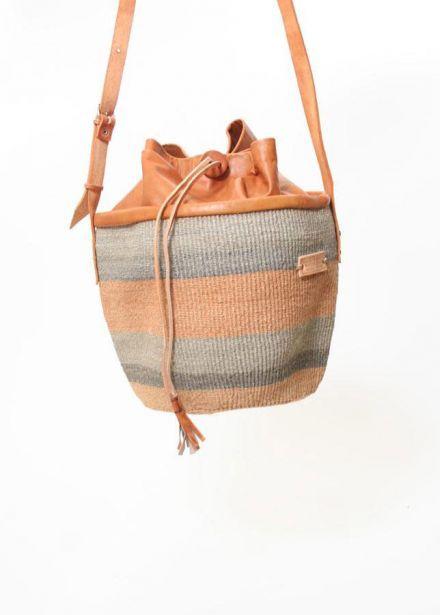 African Bags :: Tri-colored Sisal Bag