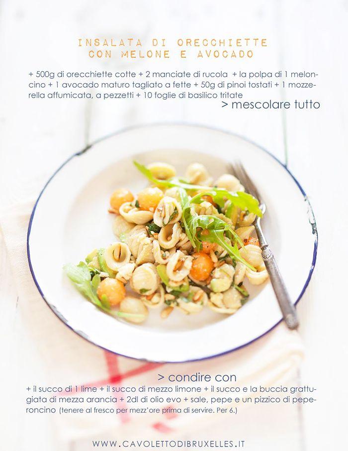 E successo che stamattina mia amica Sara mi ha chiesto la ricetta di quell'insalata buonissima di pasta con melone e avocado (sic) che in...