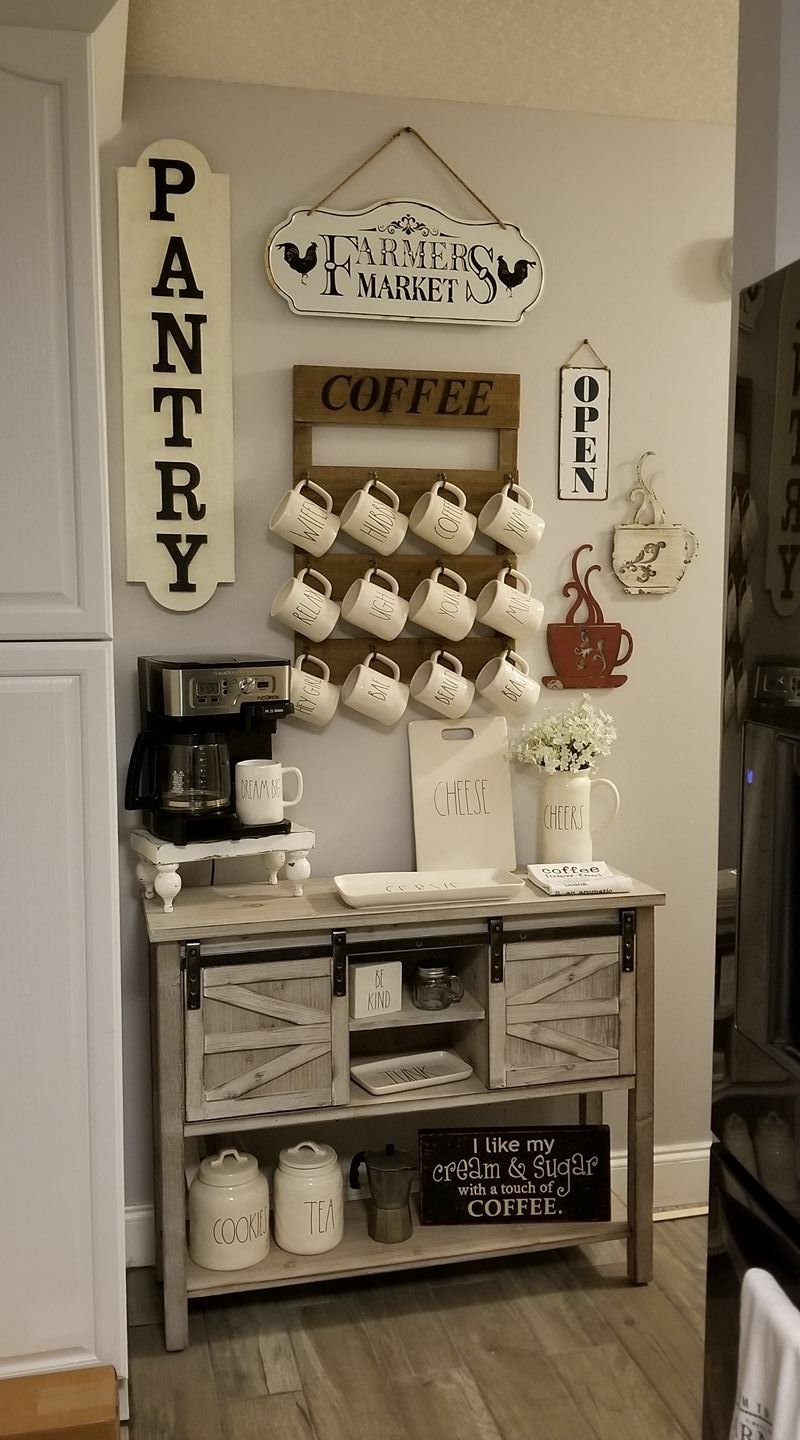 Photo of Farmhouse coffee bar – Kirkland's console