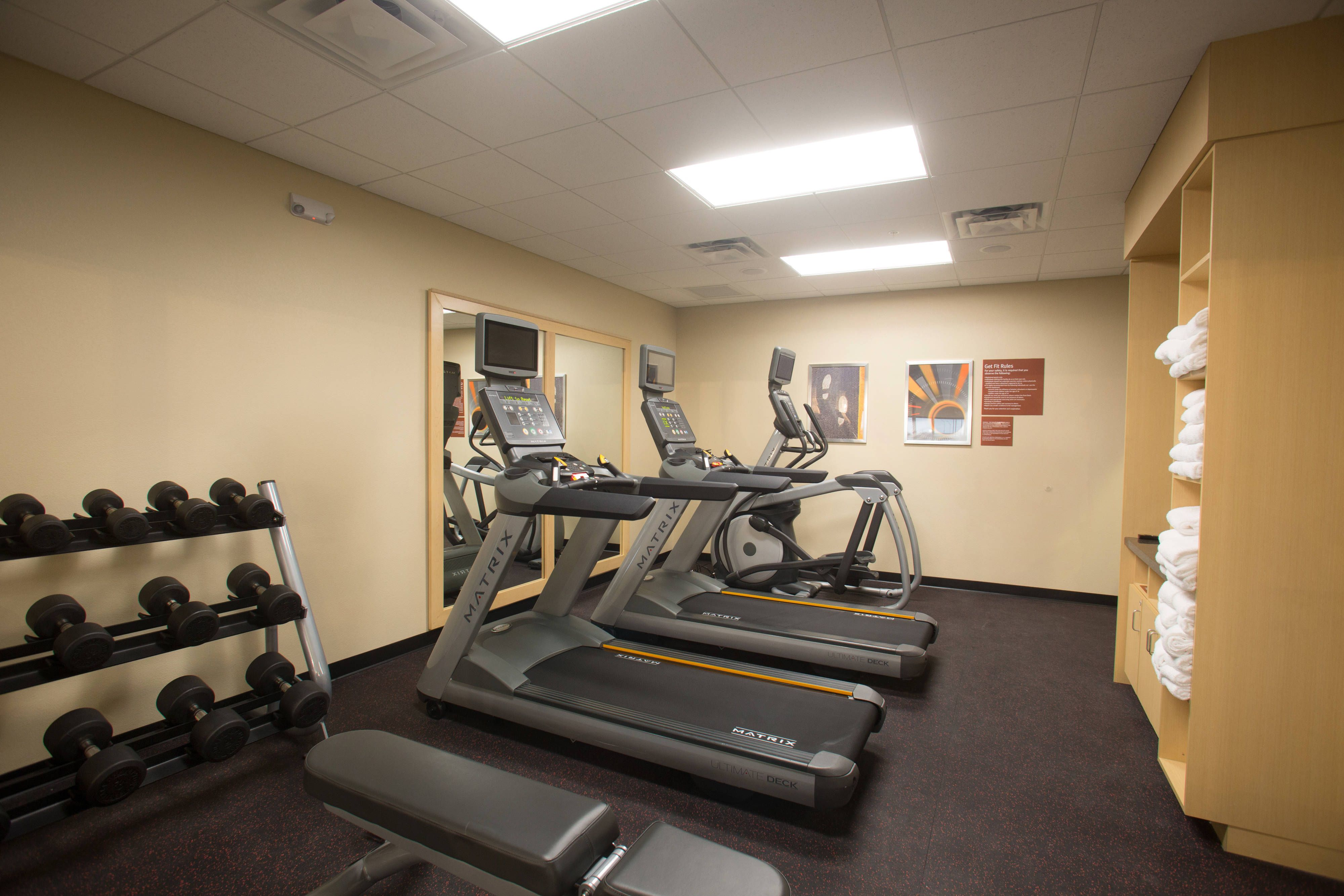 Towneplace Suites Lincoln North Fitness Center Beautiful