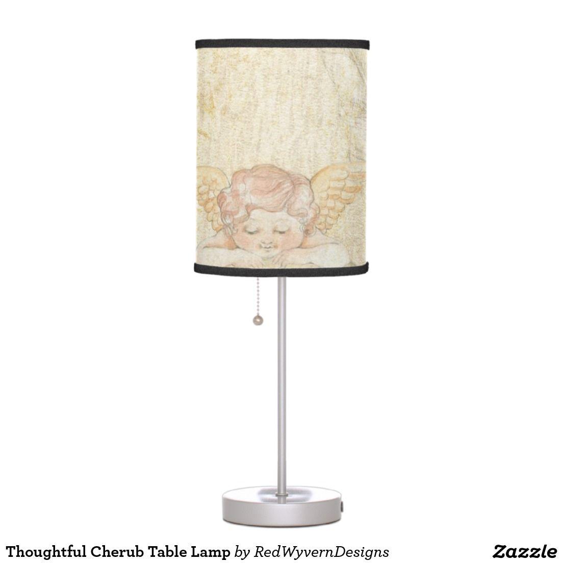 Thoughtful cherub table lamp cherub table lamps and lamps thoughtful cherub table lamp geotapseo Images