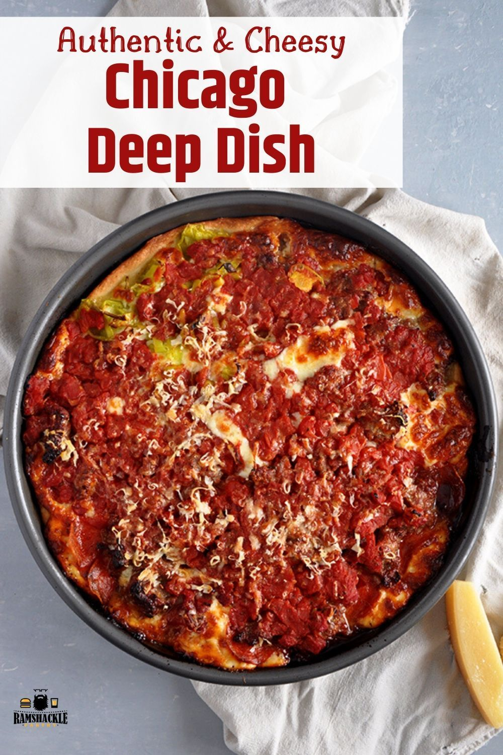 how to make the best chicago deep dish pizza in 2020 deep dish pizza chicago deep dish pizza deep dish pizza recipe pinterest