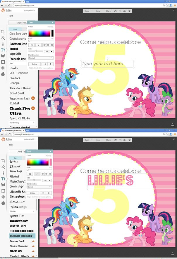 My Little Pony Invitations Pony Birthdays And Pony Party - My little pony birthday party invitation template