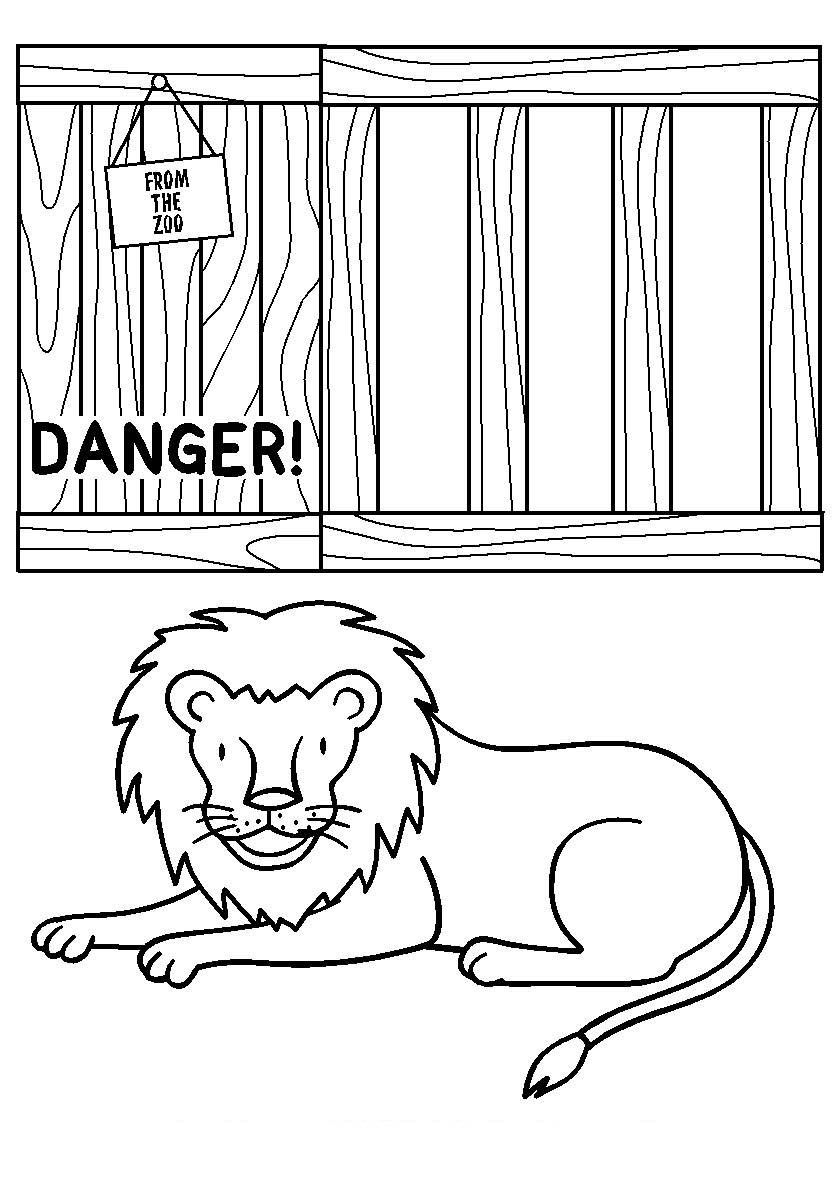 Colouring sheet zoo - Costume Comprised Of Boxes With The Dear Zoo Lift The Flap Crates