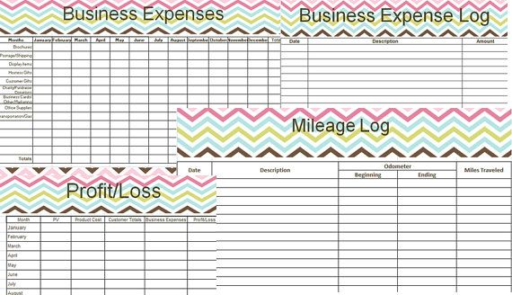 Home Based Business Expenses Profit/Loss and by OwlwaysPlanned