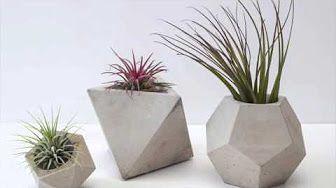Diy Cement Planters Cement Geometric Candle Holder Pentagonal
