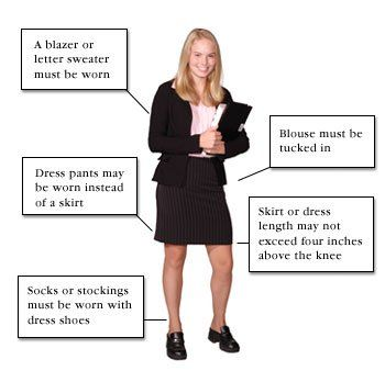 Female Dress Code Diagram