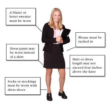 Female Dress Code Diagram
