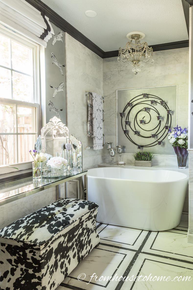 Eclectic Deco Glam Master Bathroom Makeover Master Bathrooms - One week bathroom
