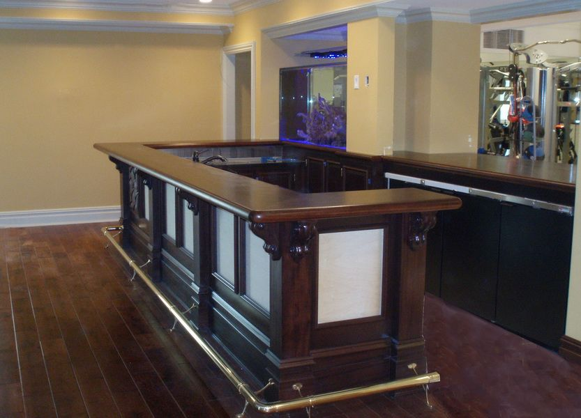 This Sapele (African Mahogany) Premium Wide Plank Bar Top Was Made For A