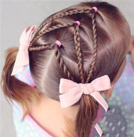 Braided Hairstyle Children Kids For School Little Girls Children S Hairstyles For Long Hair Girls Hairdos Little Girl Hairstyles Girl Hairstyles