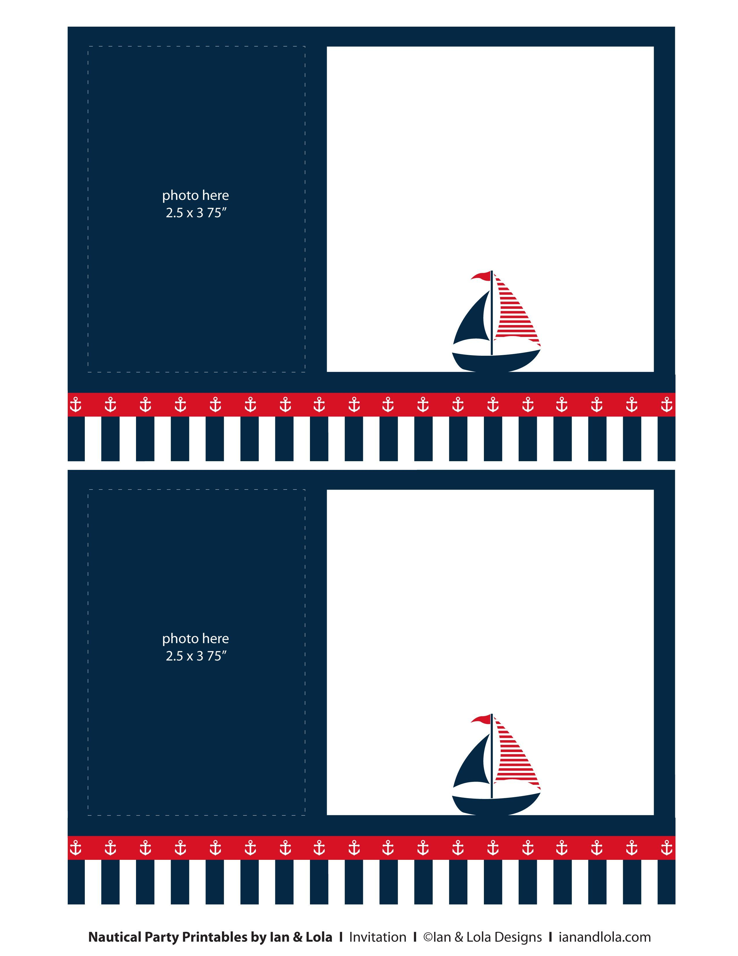 Nautical Blank Invitation Check more at http://www