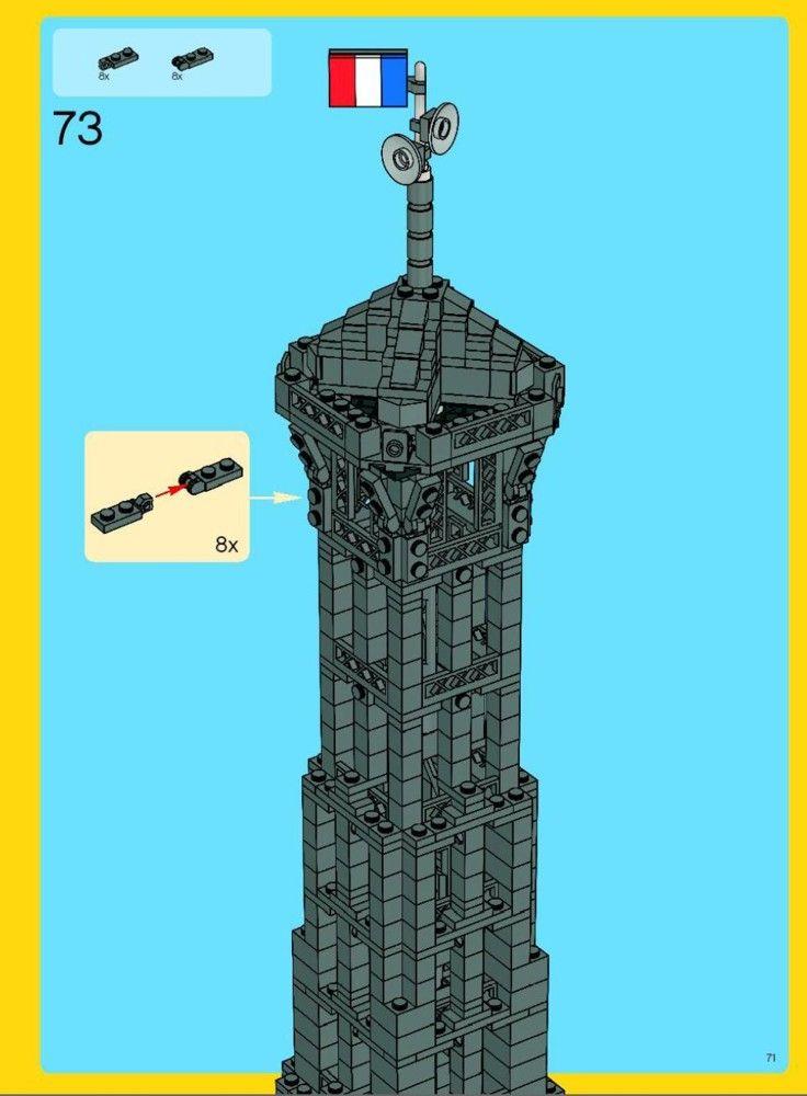 Advanced Models Eiffel Tower Lego 10181 Lego Pinterest