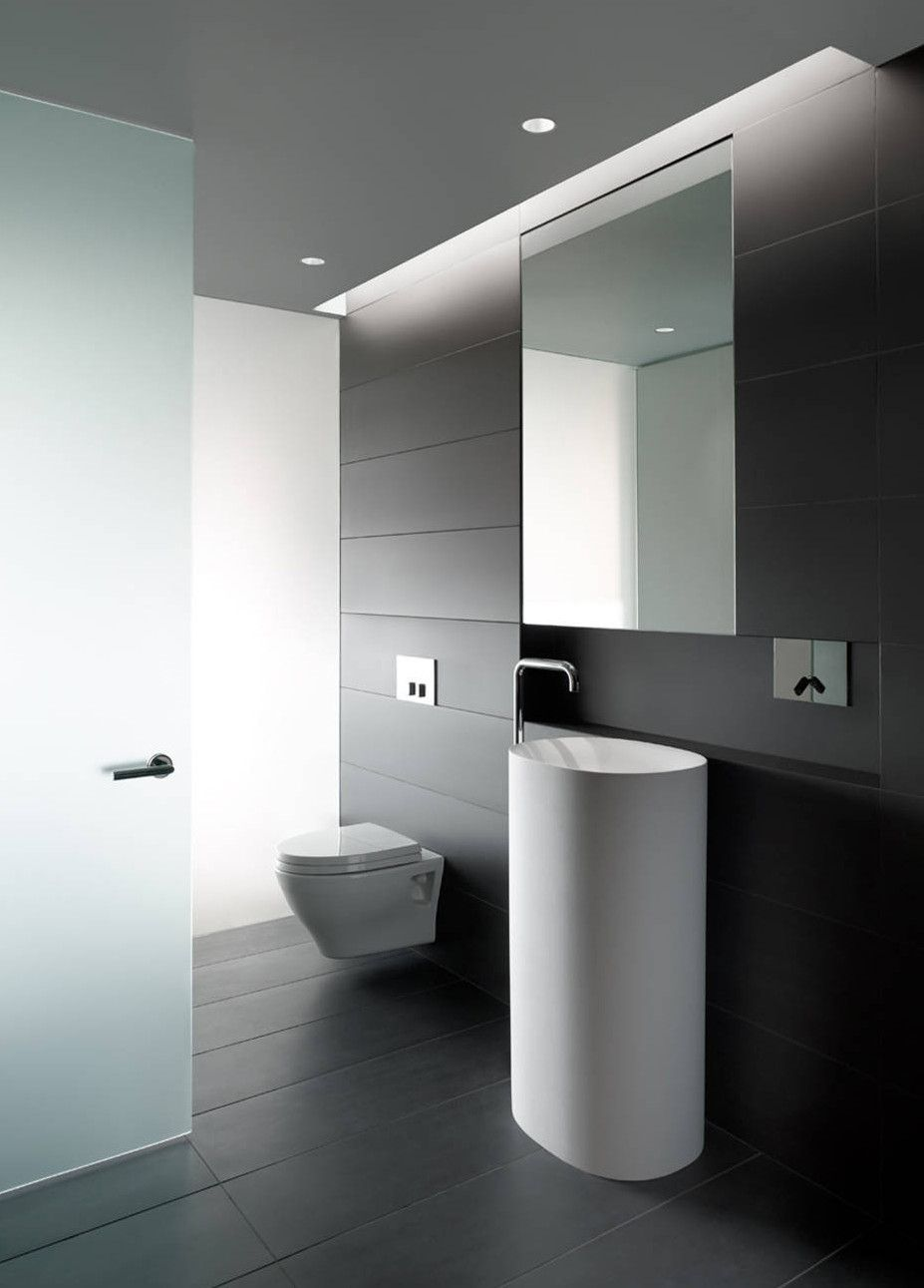 Bad Modern Gestalten Mit Licht Durch Indirekter Beleuchtung über Opake  Glastür