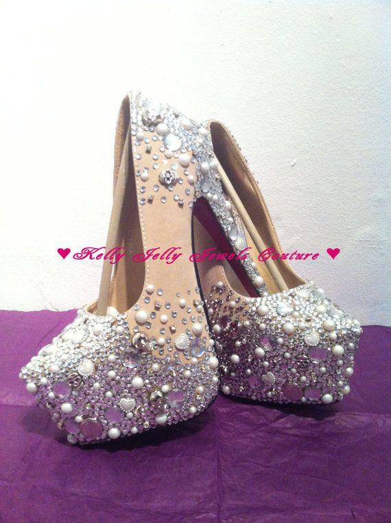 Silver Bling High Heels