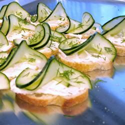 Cucumber Dill appetizers...to die for...and EZ-P-Z!