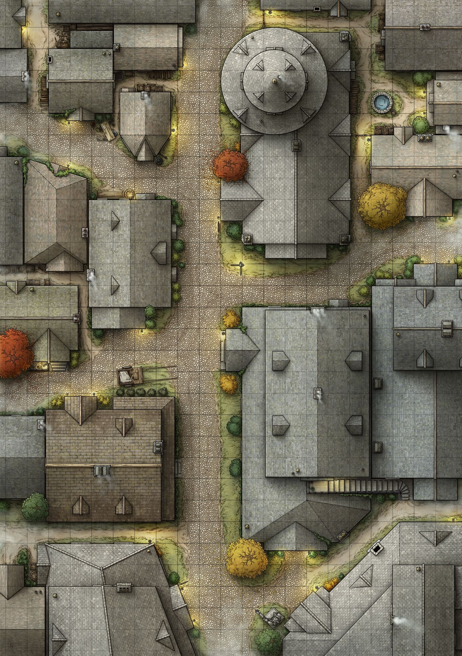 Dnd Street Map : street, Tabletopgames, #tabletop, #games, #dungeons, #dragons, Tabletop, Maps,, Fantasy, Dungeon