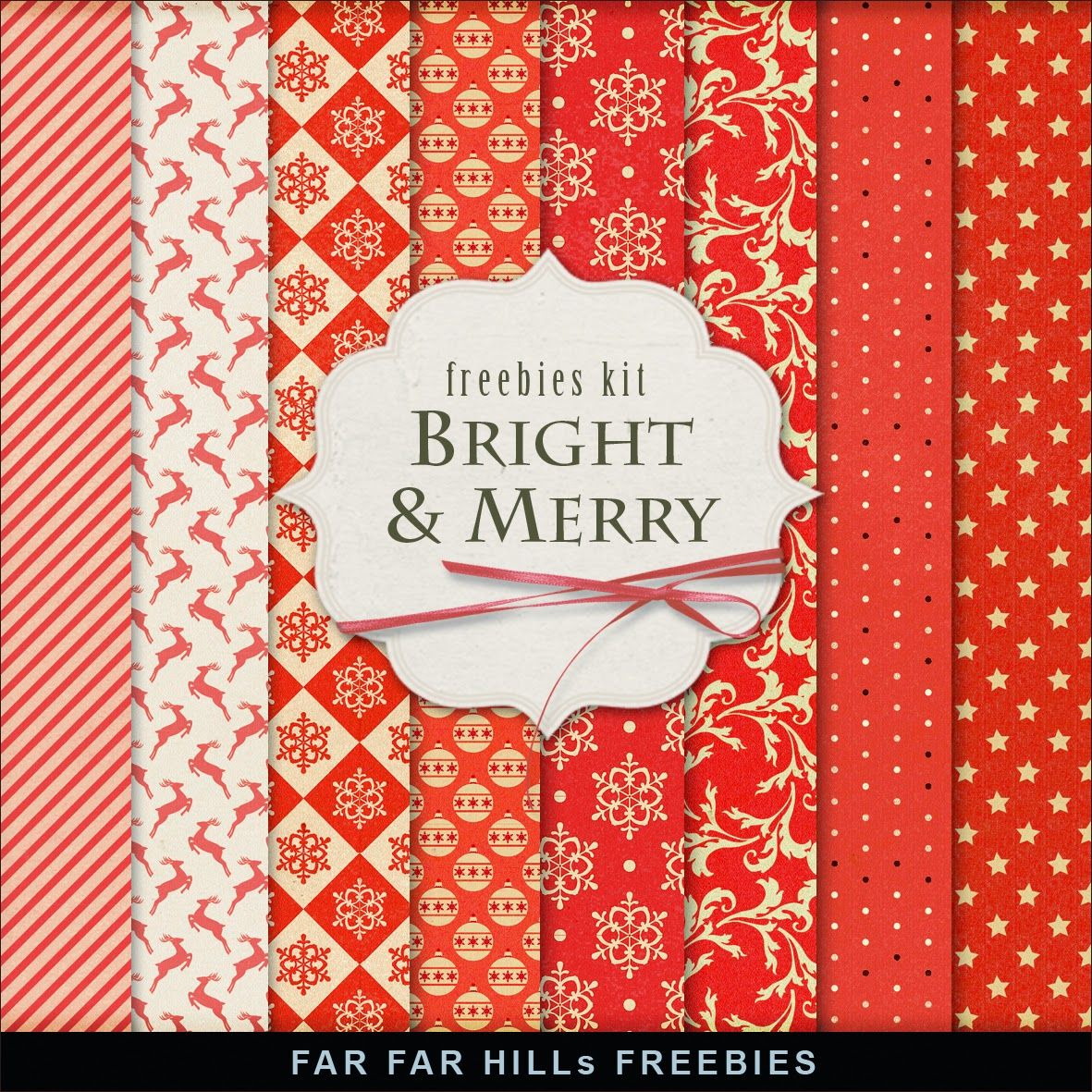 Far Far Hill: New Freebies Winter Backgrounds - Bright & Merry #winterbackground