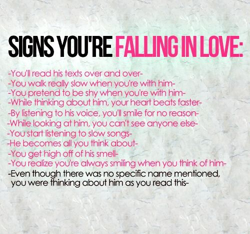 Signs You Are Falling In Love   Google Search