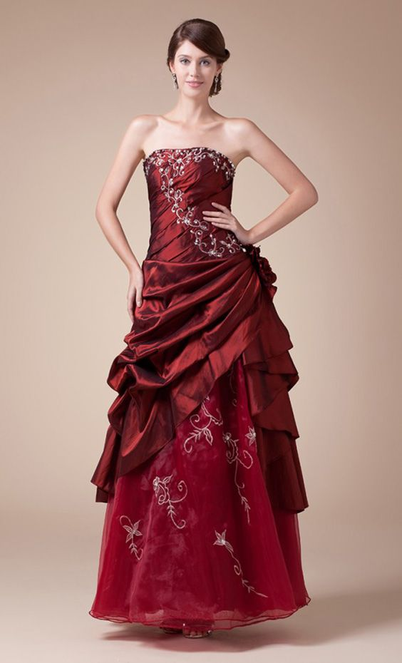Learn Red Wedding Dresses Meaning And Ideas Before Breaking The Rule Red Wedding Dresses Burgundy Quinceanera Dresses Ankle Length Wedding Dress