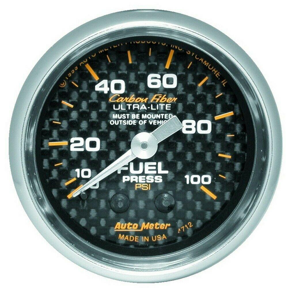 sponsored ebay auto meter carbon fiber 52mm 100 psi mechanical fuel pressure gauge [ 1000 x 1000 Pixel ]