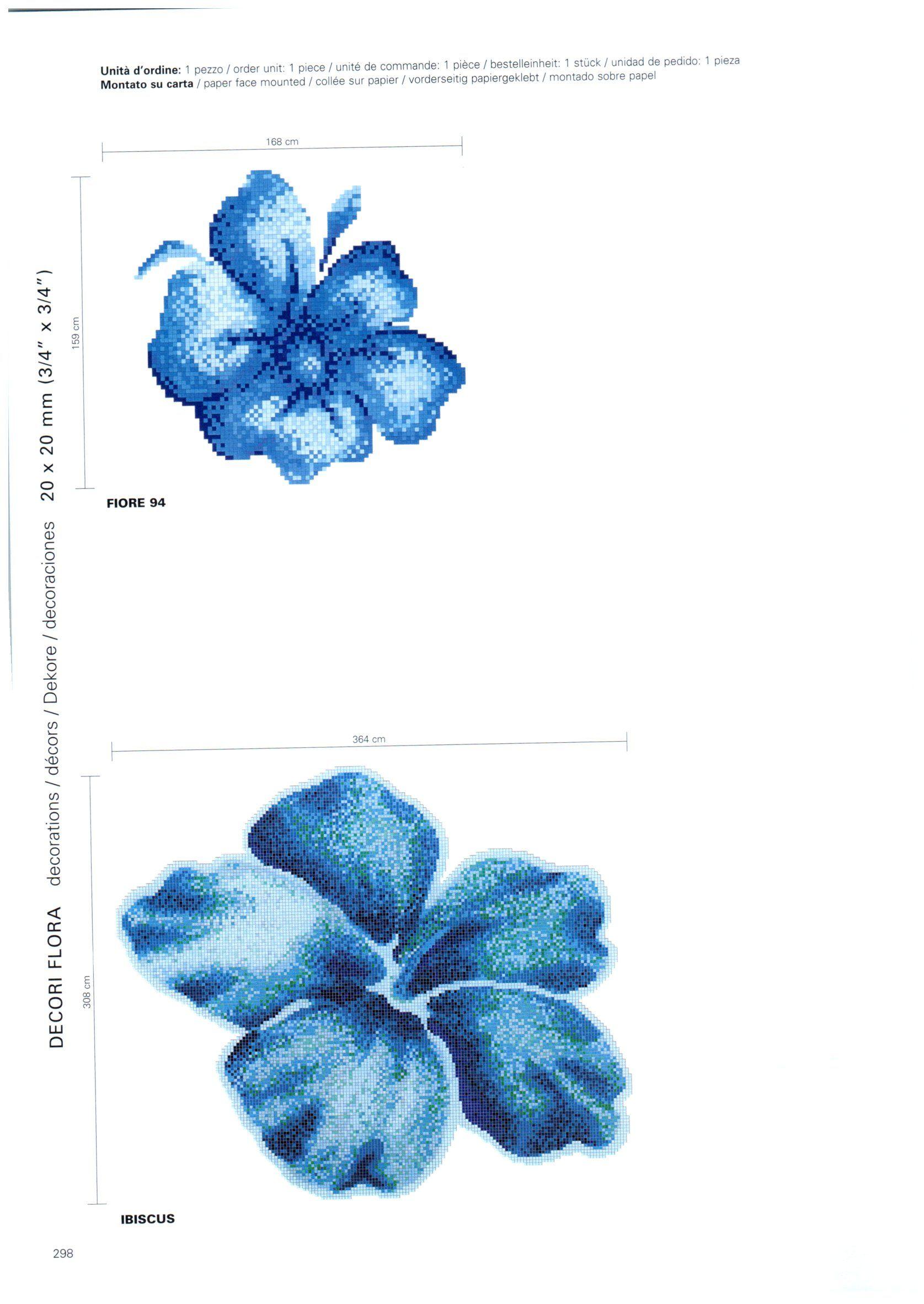 Fiore 94 Bisazza.Bisazza Ibiscus 20x20mm Mosaic Tiles Mosaic Tile Supplies